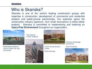 Who is Skanska?
