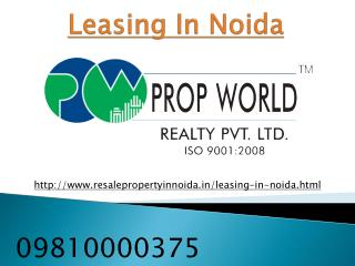 Leasing in Noida, Retail Showroom, Commercial Shops leasing