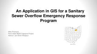An Application in GIS for a  Sanitary Sewer Overflow Emergency Response Program