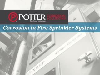 Corrosion in Fire Sprinkler Systems
