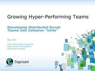 Growing Hyper-Performing Teams