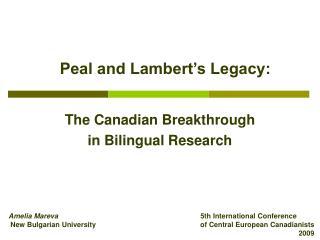 peal and lambert