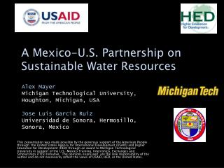 A Mexico-U.S. Partnership on Sustainable Water Resources
