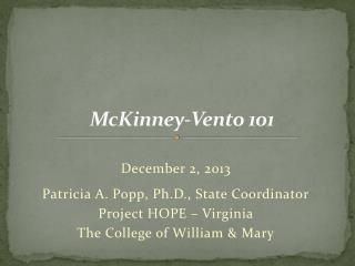 McKinney-Vento 101