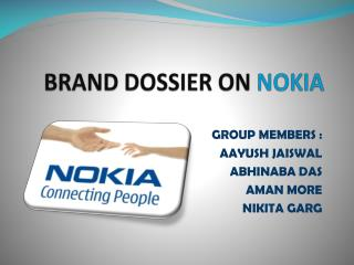 BRAND DOSSIER ON  NOKIA