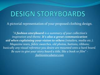 DESIGN STORYBOARDS