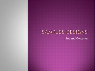 Samples Designs