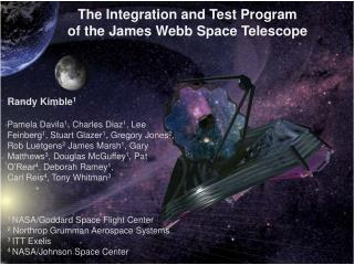 The  Integration and Test Program     of the James Webb Space Telescope