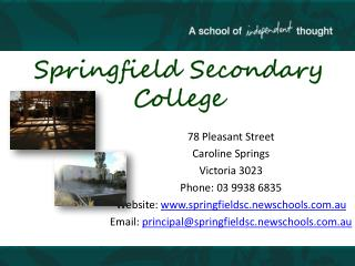 Springfield Secondary College