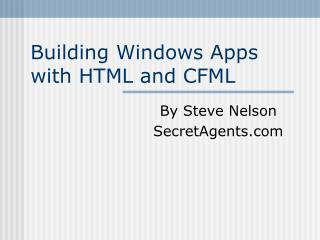 Building Windows Apps