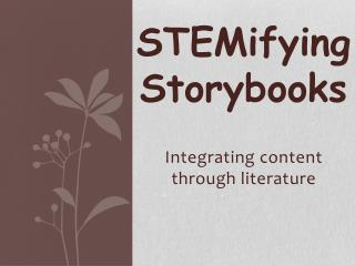 STEM ifying  Storybooks