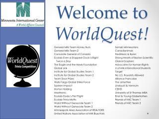 Welcome to  WorldQuest !