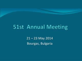 51st   Annual Meeting