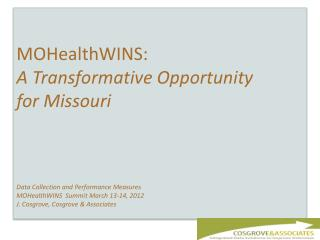 MOHealthWINS Vision for Missouri