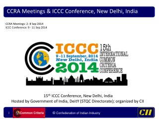 CCRA Meetings & ICCC Conference, New Delhi, India