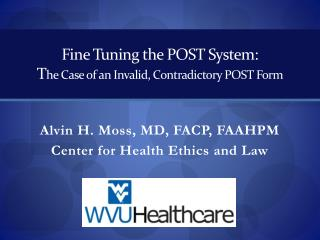 Fine Tuning the POST System: T he Case of an Invalid, Contradictory POST Form