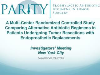 A Multi-Center Randomized Controlled Study Comparing Alternative Antibiotic Regimens in Patients Undergoing Tumor Resec