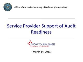Service Provider Support of Audit Readiness