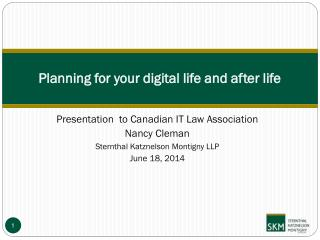 Planning for your digital life and after life