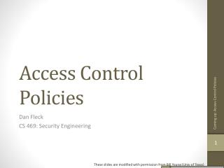 Access Control Policies