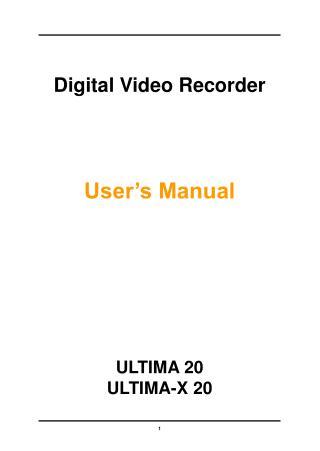 Digital Video Recorder User's Manual