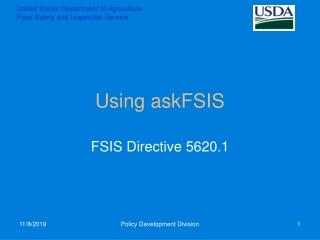 using askfsis