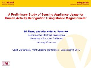 A Preliminary Study of Sensing Appliance Usage for Human Activity Recognition Using Mobile Magnetometer