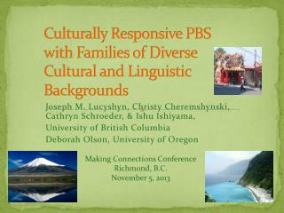 Culturally Responsive PBS with Families of Diverse Cultural and Linguistic Backgrounds