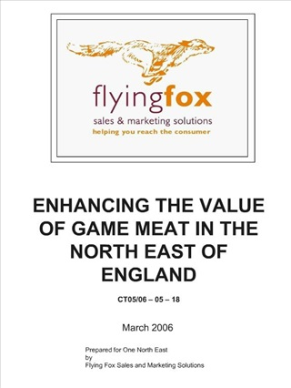 enhancing the value of game meat in the north east of england  ct05