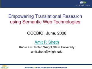 empowering translational research using semantic web technologies