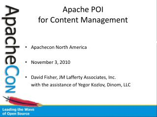 Apache POI  for Content Management