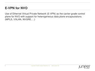 E-VPN for NVO