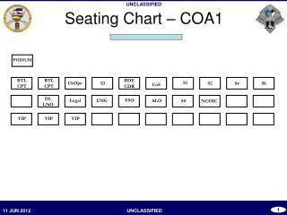 Seating Chart – COA1