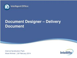 Document Designer � Delivery Document