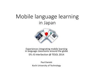 Mobile language learning in Japan