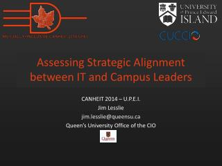 Assessing Strategic Alignment between IT and Campus Leaders