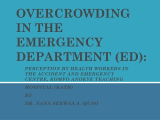 emergency department overcrowding and ambulance diversion