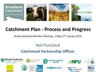 Catchment Plan - Process and Progress