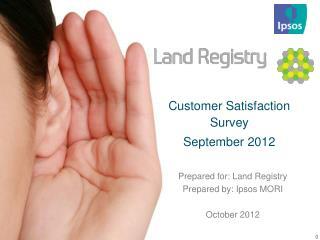 Customer Satisfaction Survey  September 2012