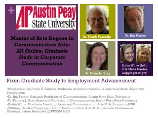 From Graduate Study to Employment Advancement