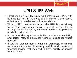 UPU & IPS Web