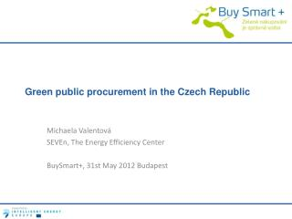 Green public procurement in the Czech Republic