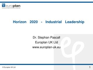 Horizon 2020 - Industrial Leadership