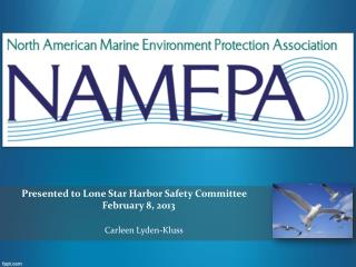P resented to  Lone  Star Harbor Safety Committee February  8, 2013