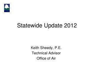 Statewide Update 2012