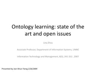 Ontology learning: state of the art and open issues