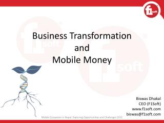 Business Transformation  and  Mobile Money