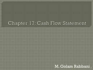 Chapter 17: Cash Flow Statement