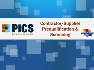 Contractor/Supplier Prequalification & Screening