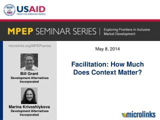 Facilitation: How  Much Does Context Matter ?